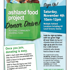 Ashland Food Project, Donor Drive!