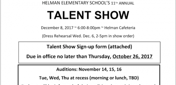 Talent Show !